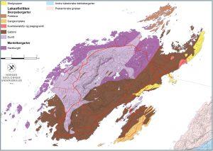 Oversikt bergarter på Leka